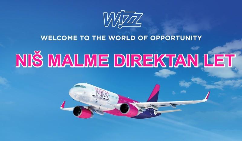 Wizzair avio karta iz Niša za Malme